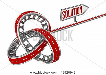 Different Way With SOLUTION Sign
