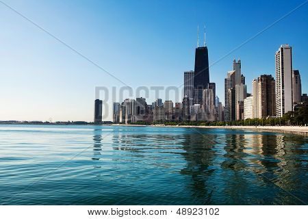 Chicago Skline From North Avenue Beach