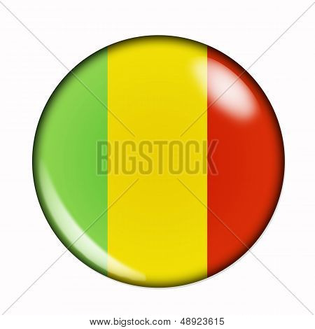 Button Flag Of Mali