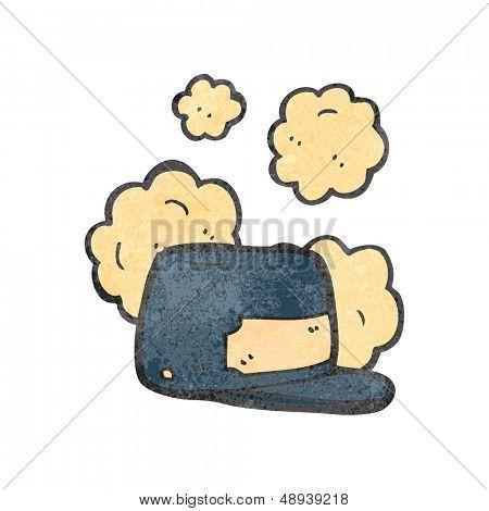 dusty old hat cartoon