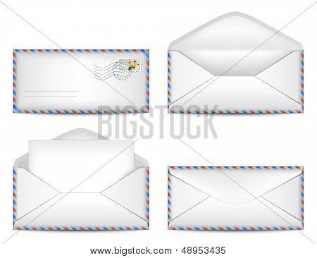 Vector set of envelopes. Eps10