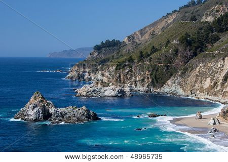 Big Sur View Along The Pacific Coastline