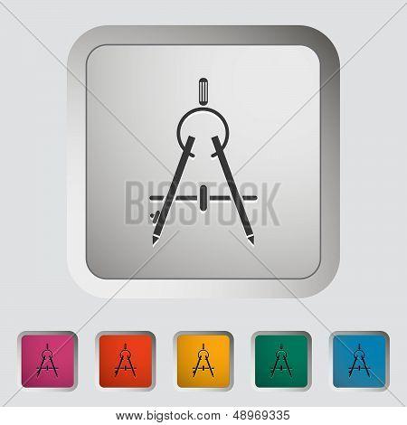 Compass. Single icon. Vector illustration.
