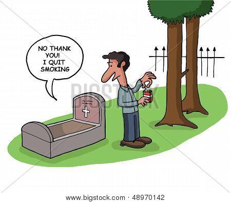 Man quits smoking