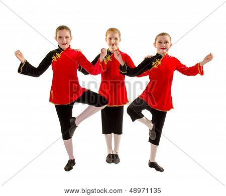 Jazz Dance Trio In Asian Costume
