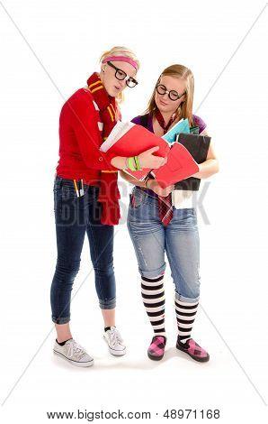 Back To School Geeky Teen Students