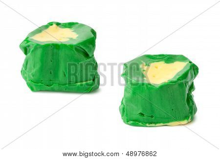 Pineapple Salt Water Taffy Isolated