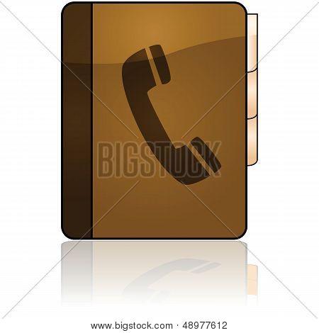 Icono de directorio telefónico
