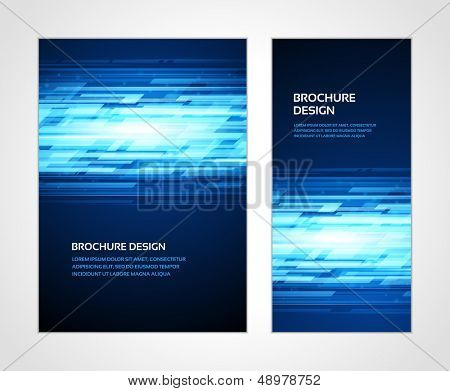 Brochure business design template or banner. Abstract vector background.