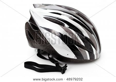 bicycle helmet isolated on white - sport and leisure