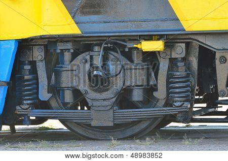 details of railway wheels wagon recondition