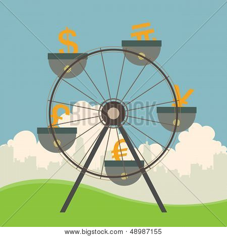 Currencies On Ferris Wheel