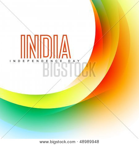 wave style vector indian flag background