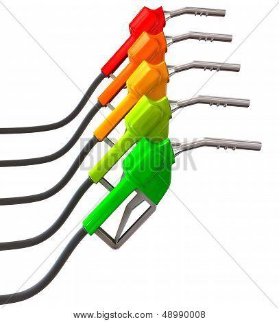 Petrol Pump Intensifying Green To Red