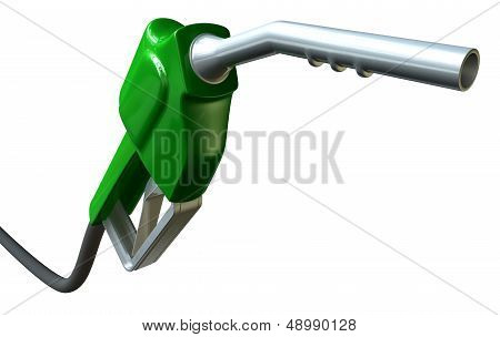 Petrol Handle And Nozzle Perspective