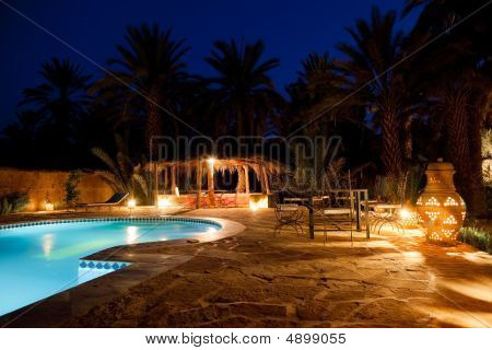 Arab Hotel Pool Evening