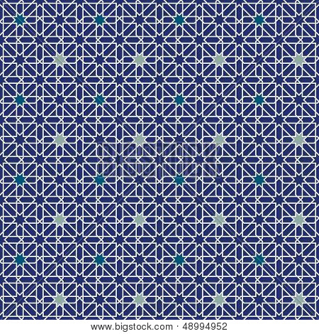 Maurische Sterne Seamless Pattern-Hintergrund