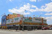 The Nathan s original restaurant  at the Coney Island, New York