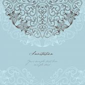 picture of damask  - Elegant invitation cards - JPG