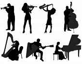 picture of saxophones  - people who play musical instruments - JPG
