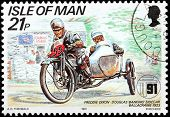 Motorcycle Race Stamp #4