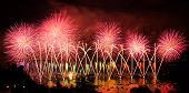 picture of annecy  - Fireworks over the city of Annecy in France for the Annecy Lake party - JPG