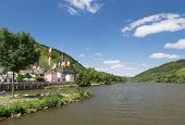 foto of moselle  - Village Alf along river Moselle in Germany - JPG