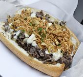 picture of cheese-steak  - Cheese Steak Sandwich With Beef  - JPG