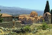 stock photo of sparta  - Saint Dimitrios Orthodox Metropolis at Mystras archaeological site - JPG