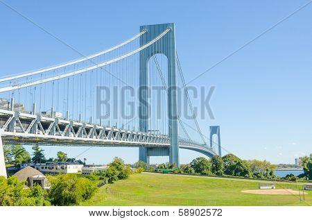 Verrazano-Narrows Bridge, NYC - view from Staten Island