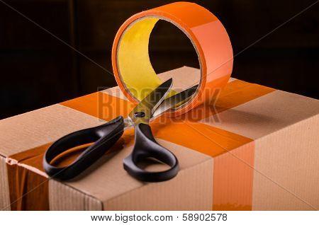 Scissors And Scotch Tape Box