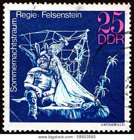 Postage Stamp Gdr 1973 Midsummer Marriage, Performance