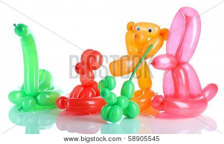 Simple balloon animals, isolated on white