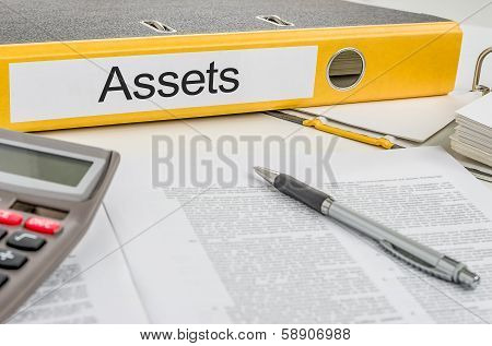 A yellow folder with the label Assets