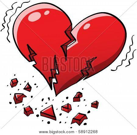 Broken Red Heart Quaking