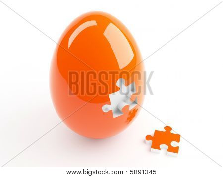 Egg with piece of Puzzle