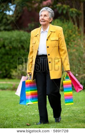 Senior Woman shopping