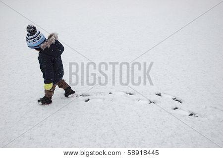 Child Winter Walk