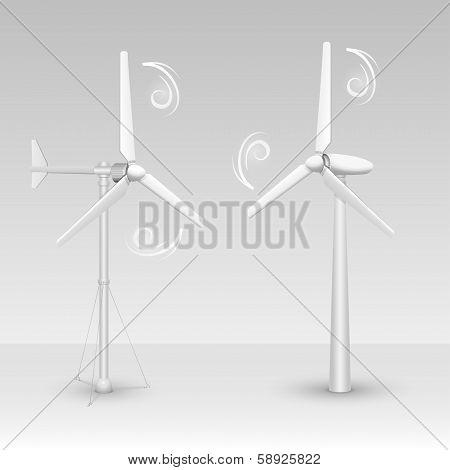 Wind turbines isolated