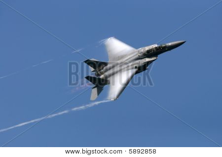 F-15 Jet In Afterburn
