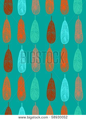 Animal pattern with stylized shapes of feathers