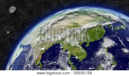 East Asia On Planet Earth
