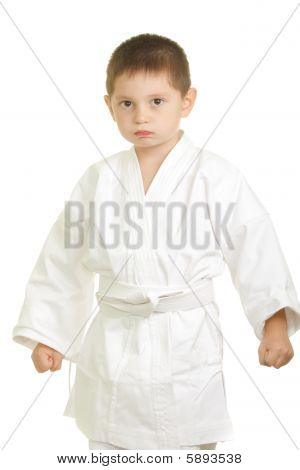 Stern Karate Boy