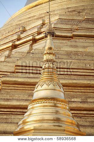 Golden pagoda �¢�?�? elements of Shwedagon Paya in Yangon, Myanmar