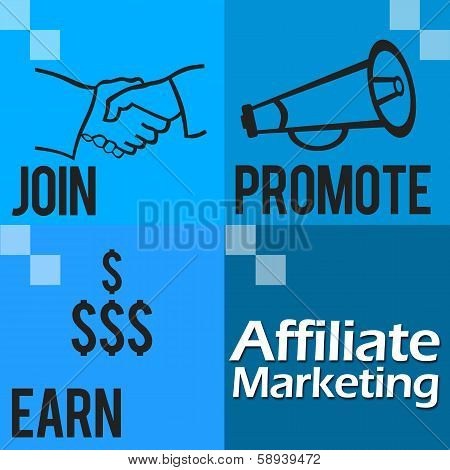 Affiliate Marketing Blue Four Blocks