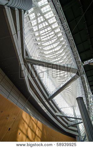 TOKYO - NOV 20: Interior of Tokyo International Forum on November 26 2013 in Tokyo Japan
