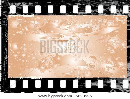grunge filmstrip frame.