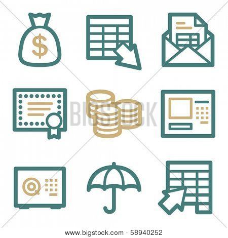 Banking web icons, two color series