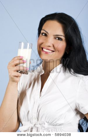 Happy Milk Woman