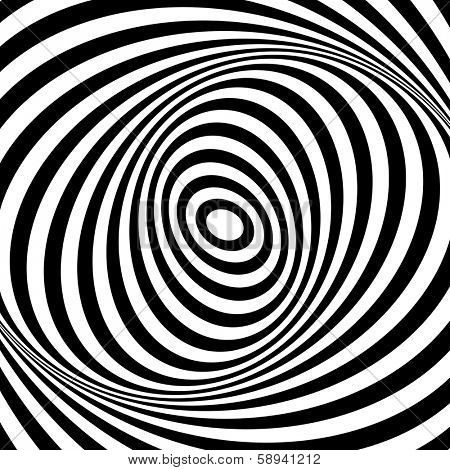Whirl movement illusion. Op art design. Abstract textured background. Vector art.